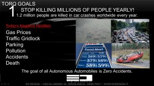 Vehicles are the cause of 30k+ deaths in the U.S. alone each year and over 1 M worldwide. Thanks Michael Robinson and ED Design for use of this image.