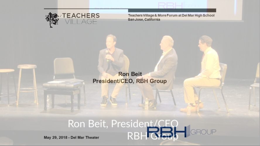 Ron Beit speaking at the Teachers Village & More Forum