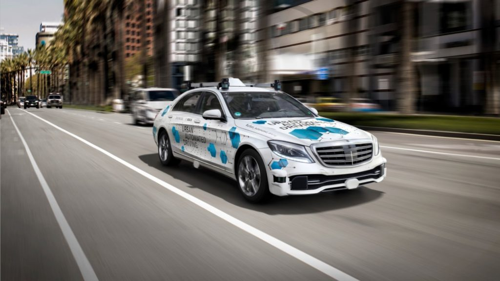 An example of a self-driving car from Mercedes.